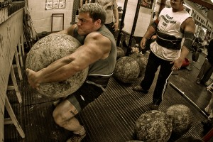 strongman stone lifting